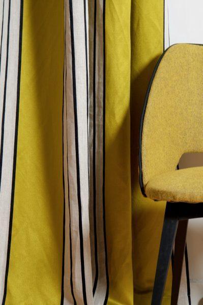 Tapissier décorateur Lyon Rideaux tissu PIERRE FREY et tringles HOULES
