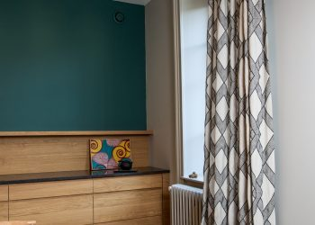 Remplacement rideau et fauteuil tissu Dominique KIEFFER pour RUBELLI lyon