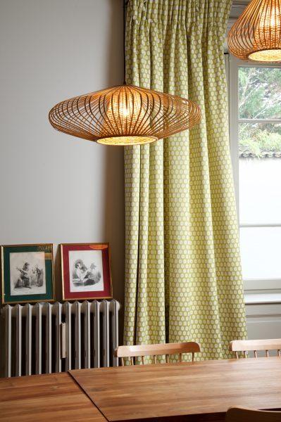 Rideau sur mesure Rhône rideaux cuisine et salon lin brodé LARSEN